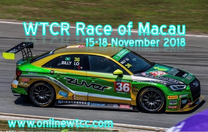 WTCR Race of Macau 2018 Live