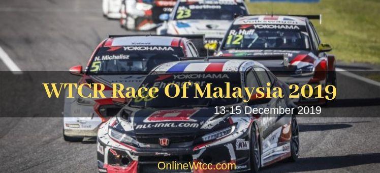 Watch WTCR Race Of Malaysia Live
