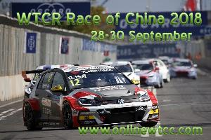 WTCR Race of China 2018 Live Stream